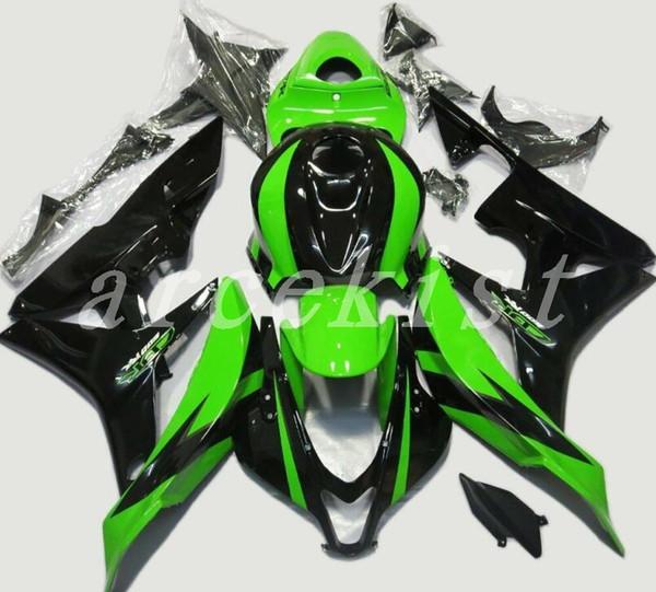 3Gifts New Injection fairing kits+Tank cover Fit for Honda CBR600RR 07 08 ABS plastic fairings CBR 600RR F5 2007 2008 custom black green