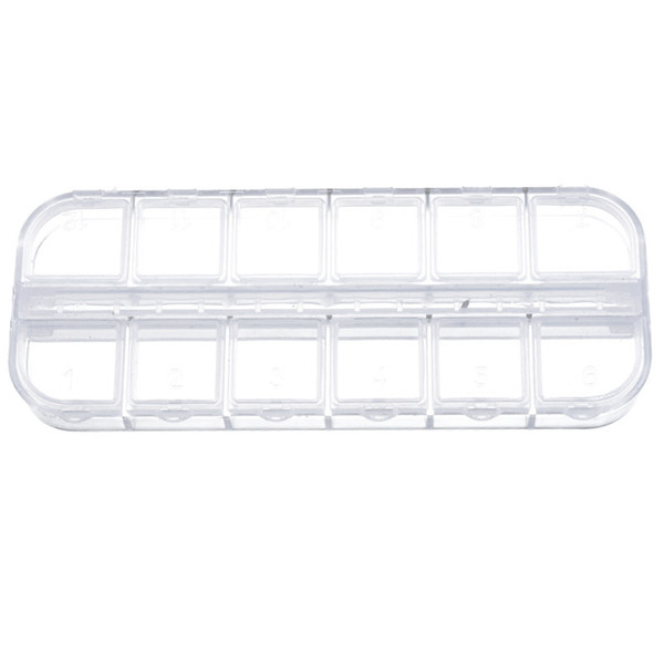 Cysincos Multi-grid Mini Clear Plastic Small Box Jewelry Earplugs Earring Storage Box Case Container Bead Makeup Clear