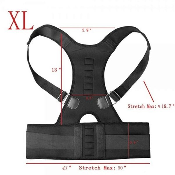 Magnetic Therapy Posture Corrector Orthopedic Back And Shoulders Support Belt Posture Back Waist Brace Pain Relief #381777
