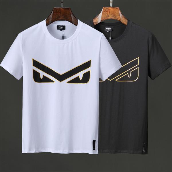 FF 2018-2019 die neue Marke T-Shirt mit kurzen Ärmeln Shirt Pullover Mode Steller Buchstaben Männer T-Shirt Medusa Freizeit T-Shirt im Sommer