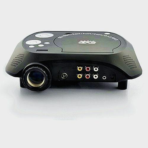 Nuevo proyector multimedia LED con reproductor de películas DVD 320 * 240 lúmenes100: 1