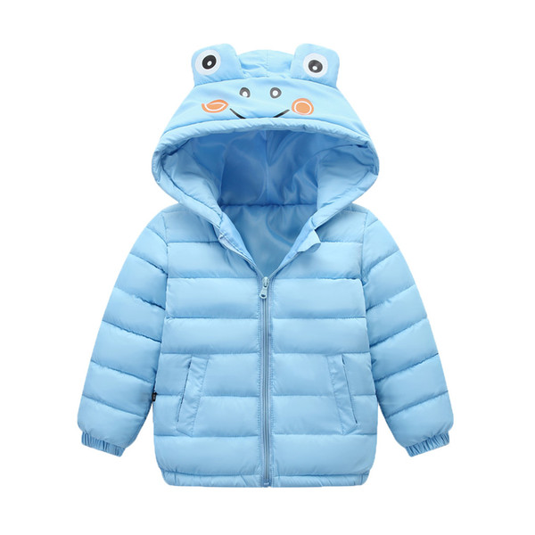 2019 invierno de los niños de la ropa del niño de los niños de la chaqueta de los niños muchacha del bebé de invierno caliente grueso animal del traje con capucha