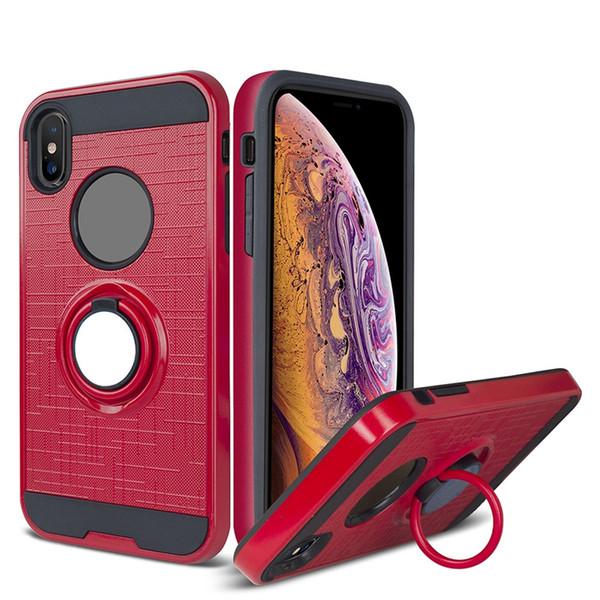 Caja del anillo híbrido de montaje en el coche para iPhone Samsung Note 10 Pro A10e A20 Core A50 M10 M20 M30 S10e S10 5G J7