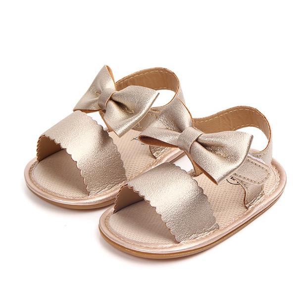 Été nouveau-né nourrisson Bébés filles Princesse bowknot Chaussures Chaussures Semelles souples PU Fit Pour 0-24M