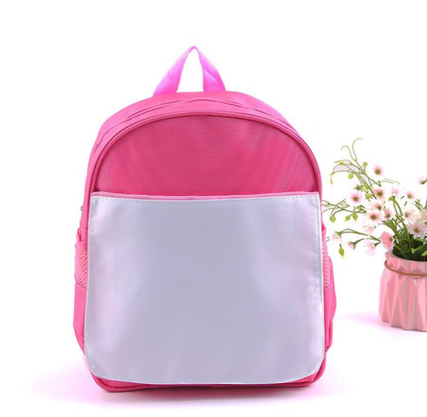 top popular sublimation DIY blank children kids schoolbag kindergarten book bag hot transfer printing 2020