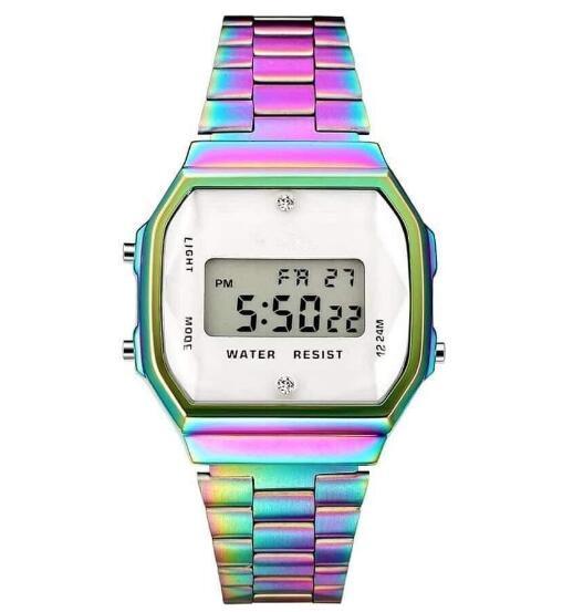 Marque colorée regarder F91W LED montres LED numérique ultra-mince mode Montres A159 A168 Hommes Femmes Sport montre Livraison gratuite