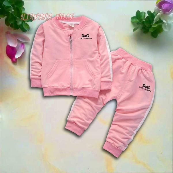 DLGB Kids Sets 1-4T Kids Cardigan Zipper Coats Pants 2Pcs/sets Children Sports Sets Long Sleeve Coats 90% Cotton New Fashion Kids Sets.
