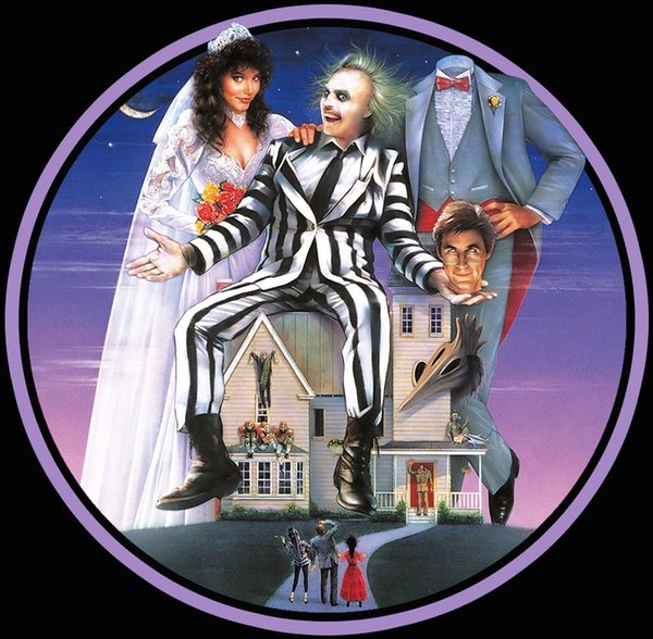 80's Tim Burton Classic Beetlejuice Poster Art custom tee Any Size Any Color colour jersey Print t shirt