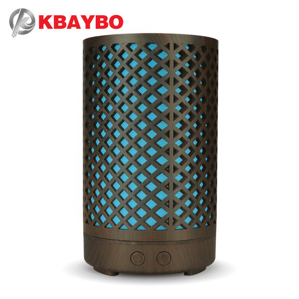 KBAYBO 100ml Electric Aroma Diffuser Wood Ultrasonic Air Humidifier Aromatherapy Cool Mist Maker colorful night light For Home