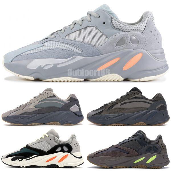 Adidas yeezy 700 V2 Static V1 Malva Gris sólido 700 Wave Runner Designer Zapatos para correr Kanye West 700 Hombres Mujeres Zapatos deportivos Zapatillas 36-46