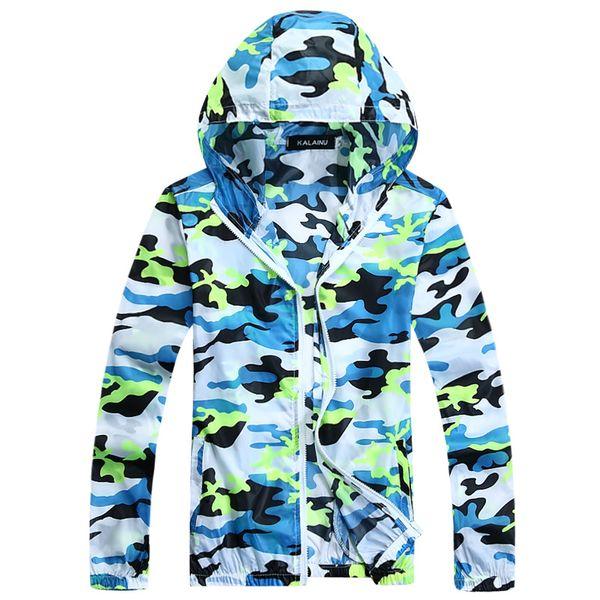 LILL |2018 Men Summer Casual Jackets Camouflage Breathable Women Jackets Gradient Anti-UV Trench Coat Beach Hiking Jacket XAA034