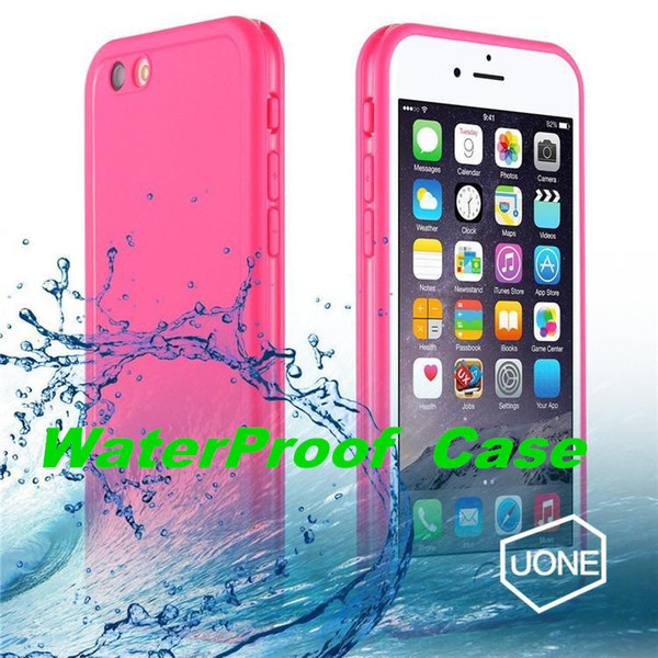 For Iphone 6 6s Plus Waterproof Cases Shock proof Case Cover 360 All Round Protective Full Sealed Dust and Snow Proof Case