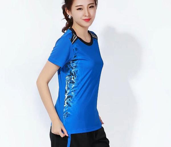 women blue shirt