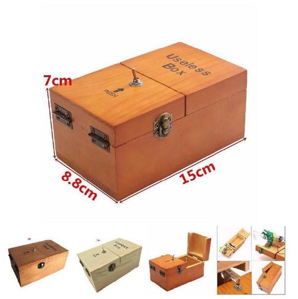 Caja electrónica inútil juguete divertido regalos turística decoración Boy madera muchacha niño pasatiempo interesante Máquina reducción del estrés