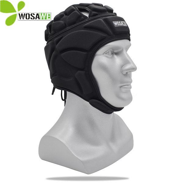 Wosawe eva spandge bicicleta capacetes anti-batida esportes de beisebol goleiro de futebol rugby head protection 50-65 cm caps