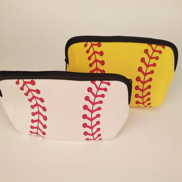 Frauen Baseball Gedruckt Kosmetiktasche Dame Mode Baseball Gedruckt Schminktasche Bilden Werkzeuge RRA757