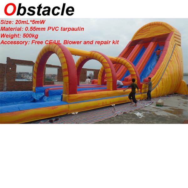 20mL*5mW Giant Inflatable water slide with bouncer inflatable outdoor games combo inflatable pool water park slide for sale