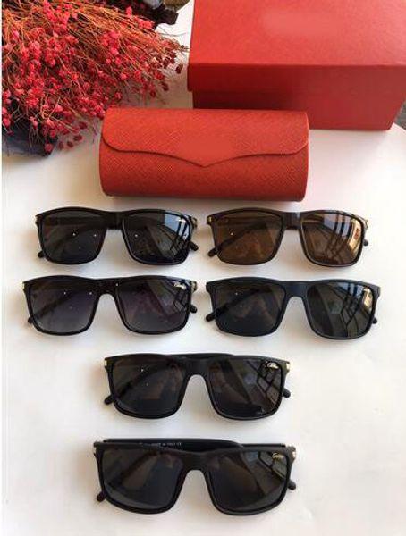 erkek ve kadınlar Marka Tasarımcı Güneş Wrap Güneş cam Pilot Çerçeve Kaplama Ayna Objektif ile Case 2020 Yeni Lüks Güneş gözlükleri