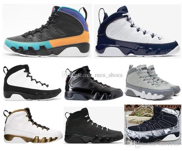 Di alta qualità 9 Dream It Do It UNC Bred Space Jam Scarpe da pallacanestro Uomo 9s Nero Pelle di serpente Sneakers Antracite