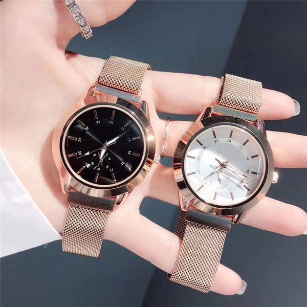 2019 Classic Top qualité homme montre de mode avec la date de montres-bracelets en acier inoxydable calendrier luxe belle horloge de femmes Montres habillées