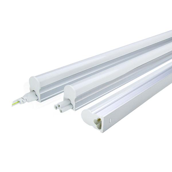 LED Tube T5 Integrado 300 milímetros 570 milímetros um pé dois pés T5 levou tubo Lâmpada Luz Luminárias 6W 10W 100V-220V Lâmpadas de parede Home Lighting Branco Quente