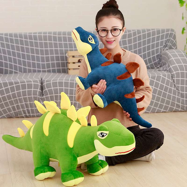 Cute cartoon stegosaurus doll plush toy big dinosaur doll rag doll children's day gift birthday gift