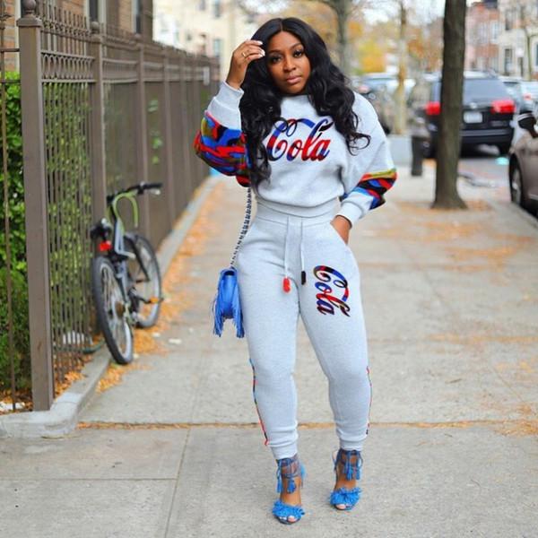 3114 spor kapşonlu pantolon eşofman kazak bodycom spor sıcak Womens kıyafetler iki parçalı set uzun kollu eşofman gömlek pantolon