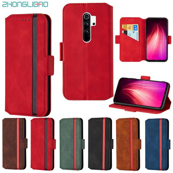 Matt Flip Phone Case für Xiaomi Mi Anmerkung 8 9t Pro A2 Lite Redmi 6 6a 7a 8a K20 PU-Leder-Mappen-Standplatz-Abdeckung Redmi Anmerkung 8 7 Pro