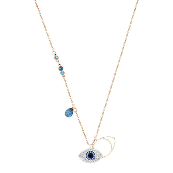 SWA RO 2018 Duo Evil Eye Pendant Blue Mixed Christmas Gift Original Lucky Guard Fashion Jewelry Girlfriend Free Shipping 5172560
