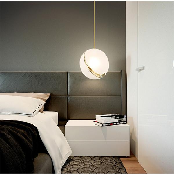 Acquista 2019 Nordic Modern Ball Loft Led Lampade A Sospensione Camera Da  Letto Lampada Da Comodino Lampada A Sospensione Ristorante Led Lampada A ...