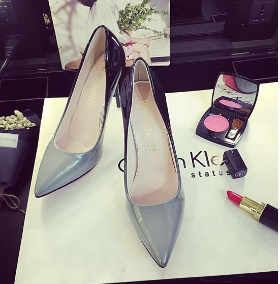 NEW European and American fashion ladies high heels brand women's wedding high heels designer shoes pointed stiletto leather 0622-24