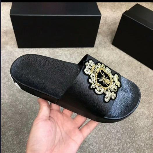 Mocassini Slip-on Pantofole Uomo Scarpe Scuff estive Nappa bowknot moda vera pelle Solid Street Sandbeach mocassini 38-45