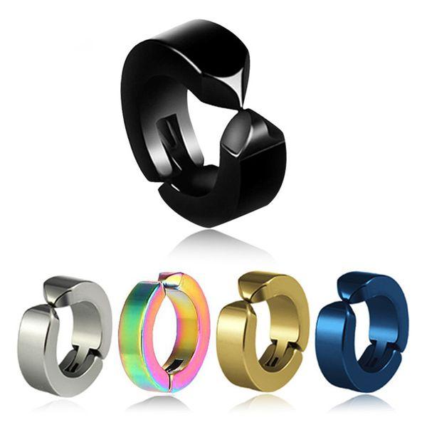 1 Pcs Ear Clip Non Piercing Earrings Fake Earrings for Men Circle Round Earring Fashion Jewelry Punk Rock Style