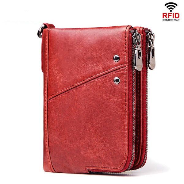 Genuine Leather Women Wallet Leather Female Purse Small Coin Purse Money Handbag Card Holders Phone Case Clip Pocket 2019
