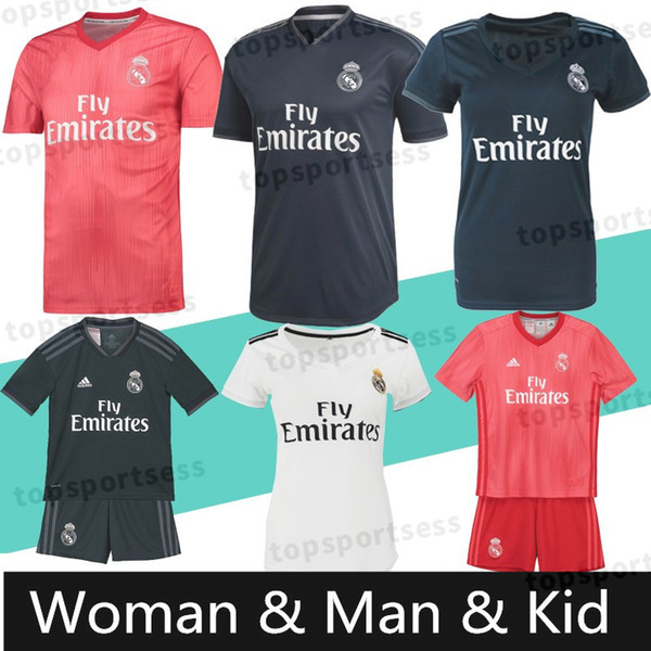 quality design 464d0 dad7b 2019 Real Madrid RONALDO #7 MBAPPE #10 Soccer Jerseys Top Quality ISCO #22  RAMOS RONALDO BENZEMA MODRIC Football Shirt WOMEN Man Kids Kits From ...