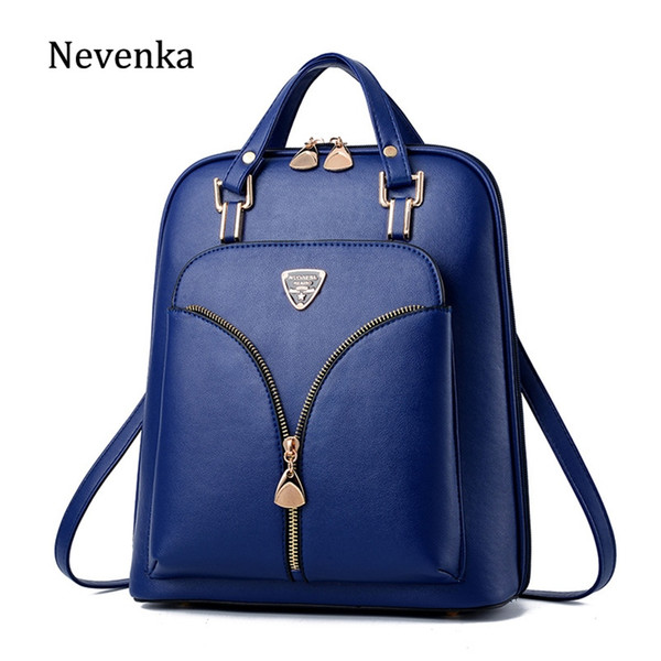 Nevenka anti roubo mochila de couro mulheres mini mochilas feminino mochila de viagem para meninas mochilas escolares senhoras saco preto 2018 # 150883