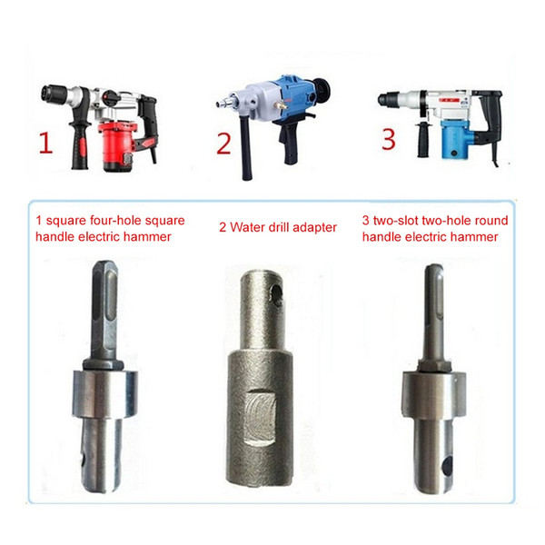 60mm Single Double Drill Bit SDS Square Auger Drill Head for Gasoline Arbor Earth Electric Hammer and Water borer