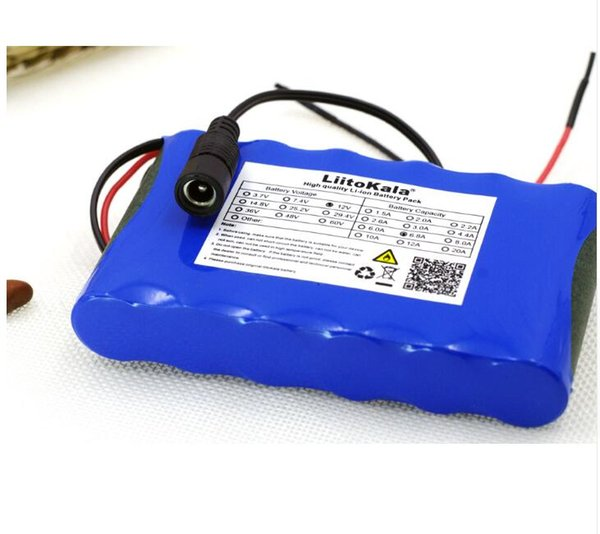 Free shipping AU EU US rechargeable Small battery pack 12V 5.2AH 18650 lithium batteries with 1A Charger
