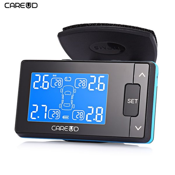 CAREUD U902 LCD Display TPMS 433.92MHz DC 12V Car Tire Pressure Monitoring System With 4 Tpms External /Internal Sensor