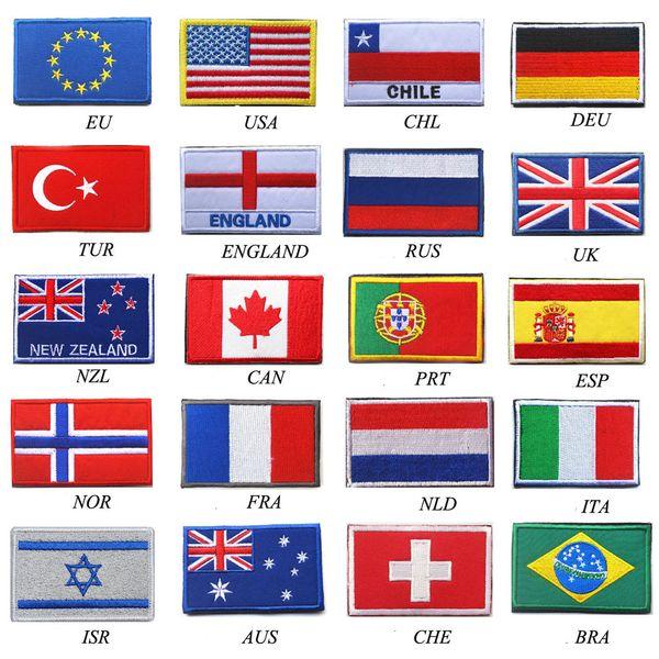 Страна Флаг патч Полоски Вышитые Россия Турция Франция ЕС Флаг Нидерландов Тактические Военные Патчи Армейская Аппликация в полоску