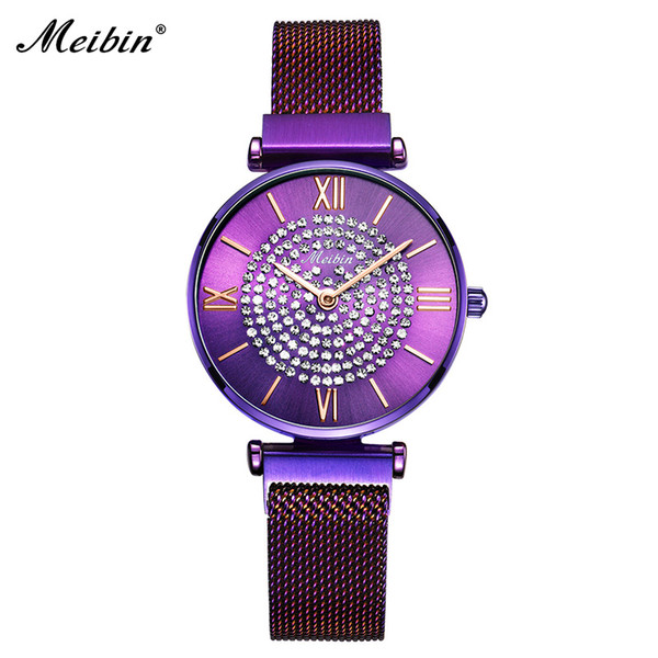 Luxury Diamond Magnetic Ladies Wrist Watch Top Selling Women Quartz Watch Elegant Buckle Female Clock For Gifts relogio feminino