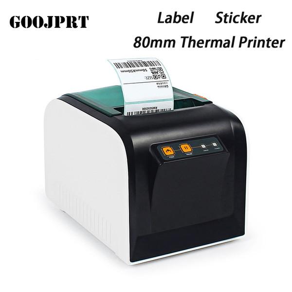 GOOJPRT JP - Impresora térmica de 3100TU Impresora de etiquetas térmicas Impresora de etiquetas de 80 mm con puerto serie USB en blanco y negro
