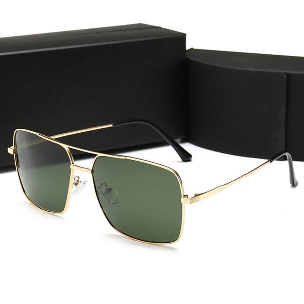 PRADA 98015 Neue beliebte Designer Sonnenbrillen Pilotenplatte Kombination mit Metallrahmen beliebten Stil Top-Qualität UV 400 Schutz Sonnenbrille