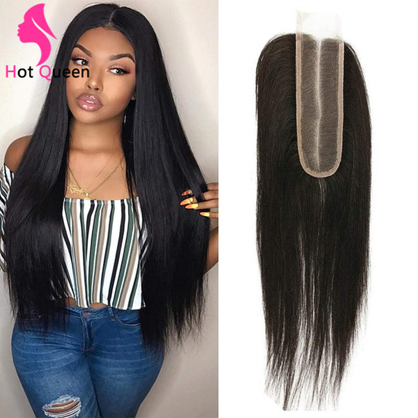 lace frontal middle part sew in