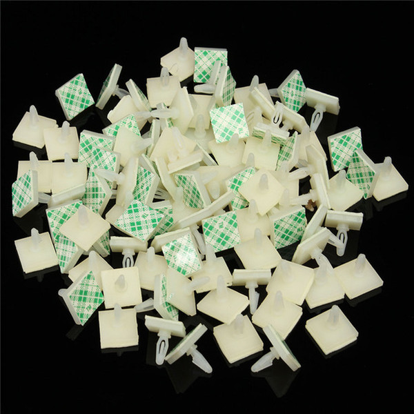 best selling heap Screws 100pcs Set HC-5 Nylon Plastic Stick Fixed Clip On PCB Spacer Standoff Locking Snap-In Post Fixed Clips Adhesive 3mm Hole Supp...