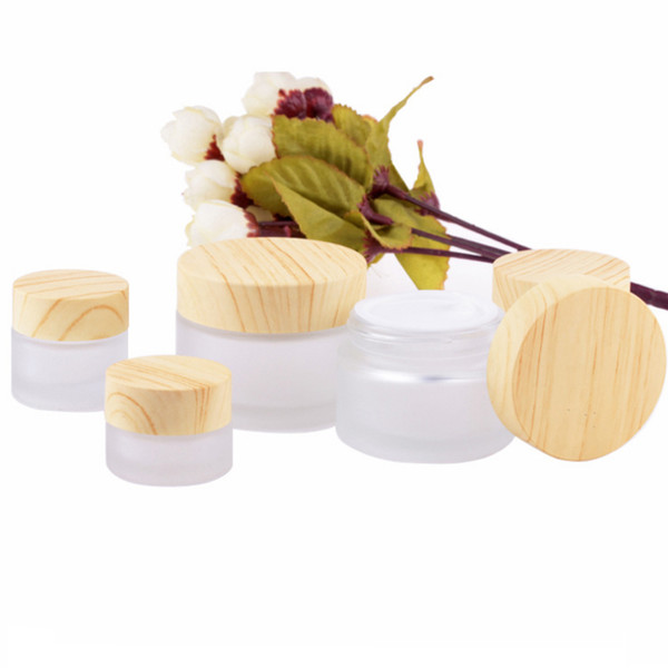Frosted Clear 5g 10g 15g 30g 50g Glass Cream Jars Empty Emulsion Pots Cosmetic Makeup Bottles Face Cream Containers Hot Sale in USA Canada