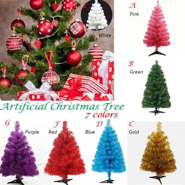 60cm Artificial Christmas Tree Snowflake Xmas Plastic Tree New Year Home Ornaments Desktop Decorations Christmas