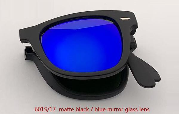 601S / 17 ماتي أسود / أزرق عدسة مرآة