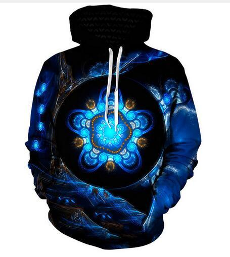 Release New Fashion Man Women Designer Perfect Harajuku Style Psychedelic 3D Print Long Sleeve Hoodies Casual Sportswear RW0179