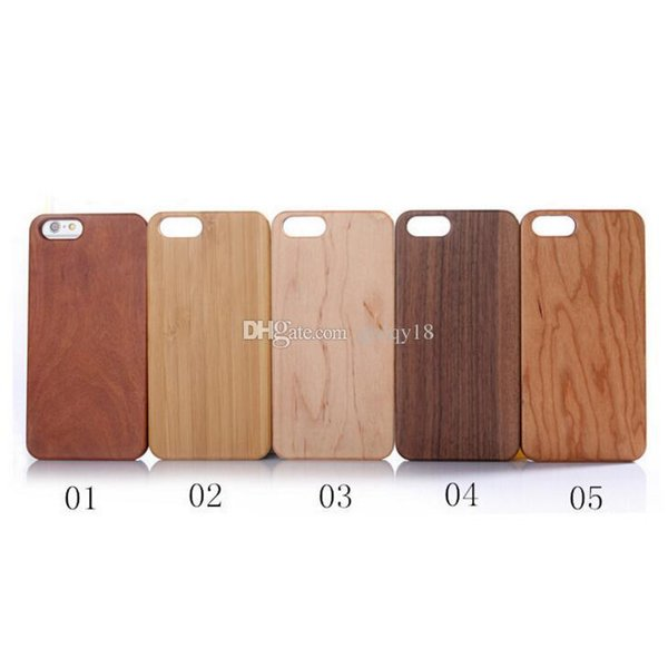 For Iphone X XS MAX XR 8 7 Case Realtre Case Wooden PC Cases for Iphone7 Plus 6 6s 6plus 5.5 Wood Plastic Bumper Back Cover